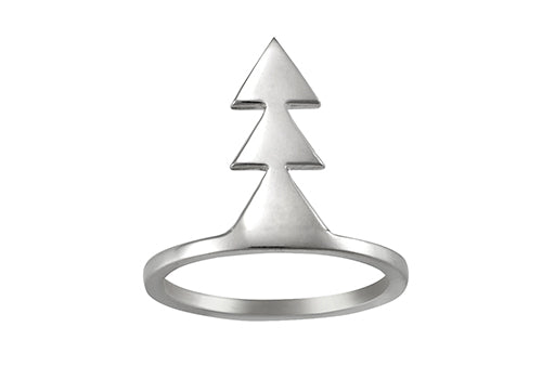 Love Triangle Ring Silver