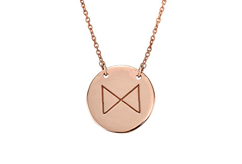 Reflect Necklace Rose Gold