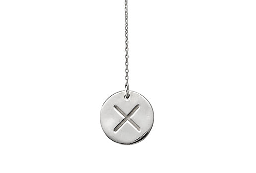X necklace silver statement necklaces with meaning matters speaking x necklace aloadofball Images