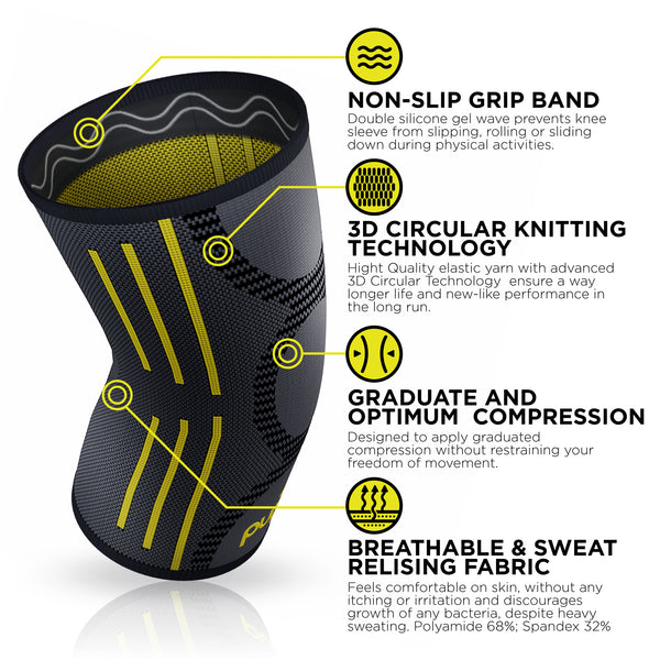 Knee Support REG-100 (Yellow) - Pure Support
