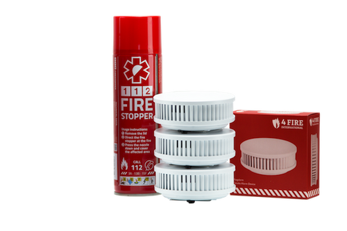 1 x Firestopper and 3 x Smoke alarm home pack for 645 sq ft