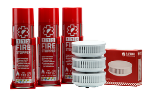 3 x Firestoppers and 3 x Smoke alarm home pack for 1940 sq ft