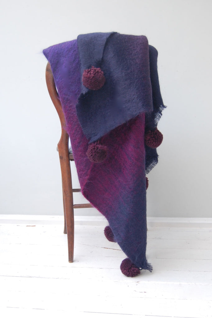 Moor Mohair Pom Pom Throw