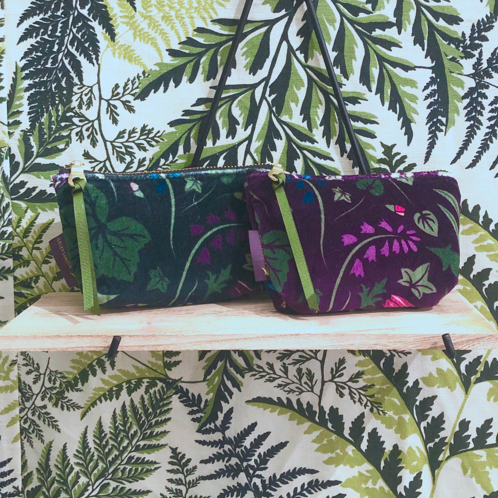 Velvet Printed Coin Purse