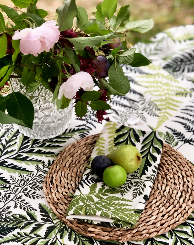 Spring Fern Print Napkins (set of four)