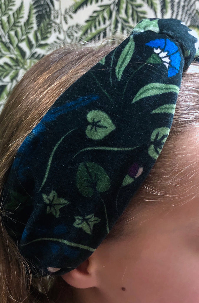 Soft Velvet Printed and Plain Elasticated Twist Headband