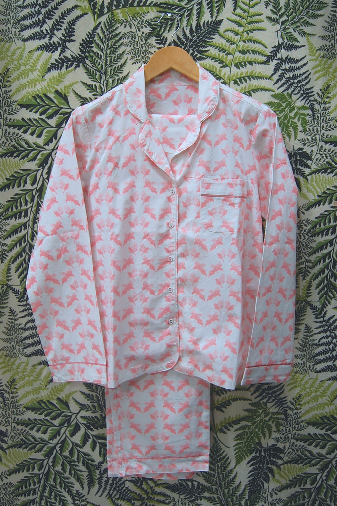 Pinks Printed Cotton Pyjama Set