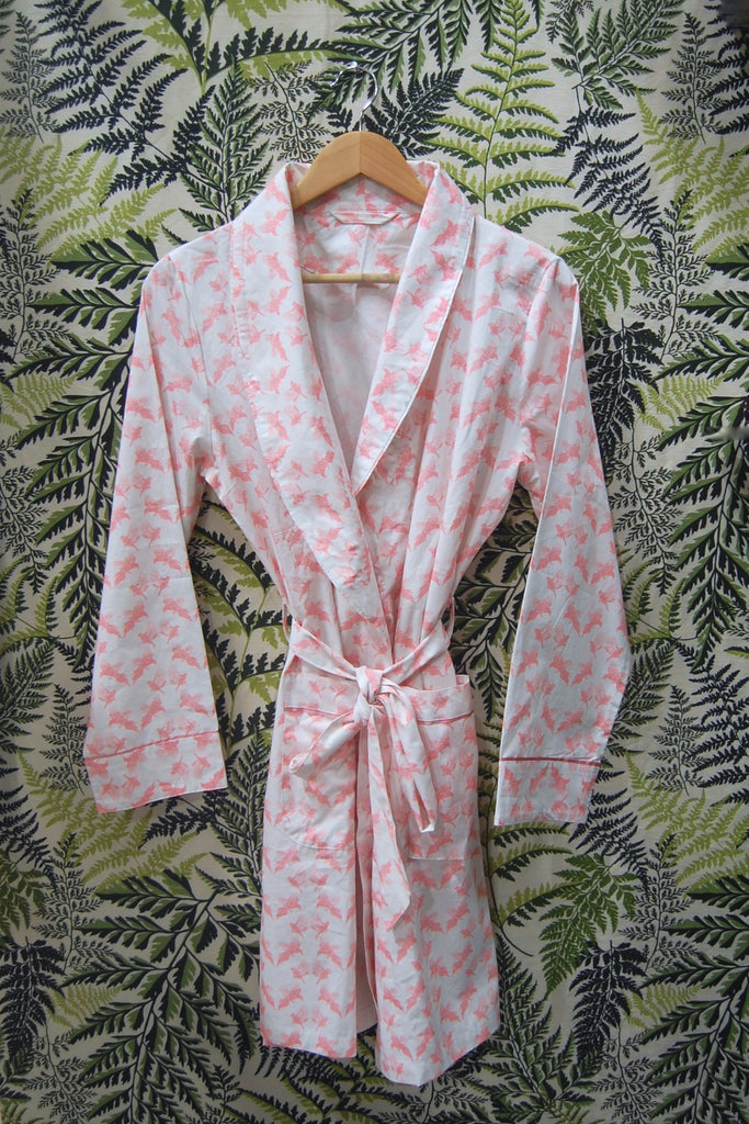 Pinks Cotton Printed Robe