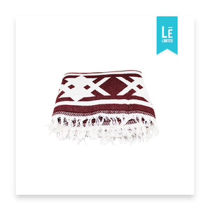 The Aztec (Burgundy) - Bomfy Blanket - The blanket with a foot pocket