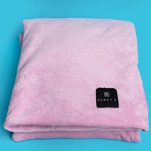 Bomfy Blanket - Pink Lavender - Bomfy Blanket - The blanket with a foot pocket