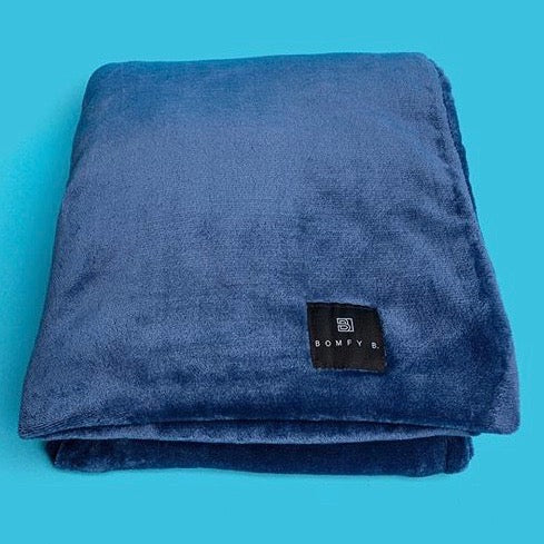 Bomfy Blanket - Midnight Blue - Bomfy Blanket - The blanket with a foot pocket