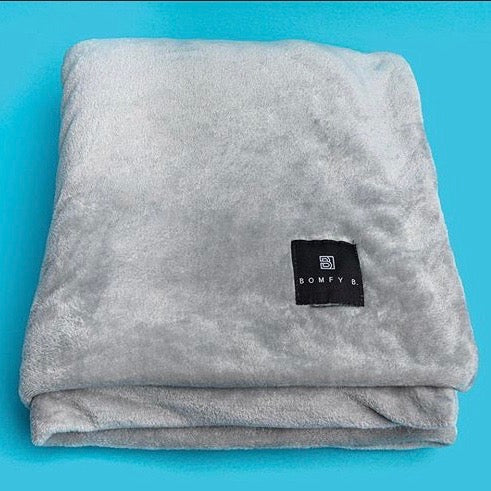 Bomfy Blanket - Heather Gray - Bomfy Blanket - The blanket with a foot pocket