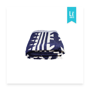 The Aztec (Navy) - Bomfy Blanket - The blanket with a foot pocket