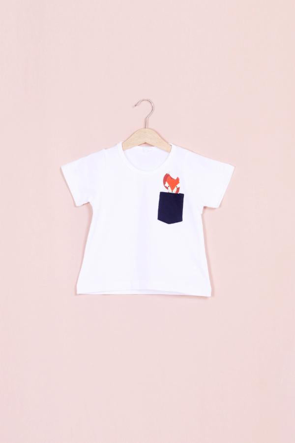 Fox Print Pocket Tee