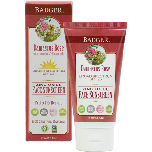 SPF 25 Damascus Rose Face Sunscreen