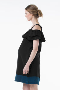 Clia Off-Shoulder Maternity and Nursing Dress - side view