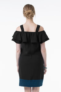 Clia Off-Shoulder Maternity and Nursing Dress - back view