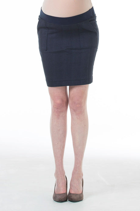 Cliona Patch Pocket Maternity Skirt