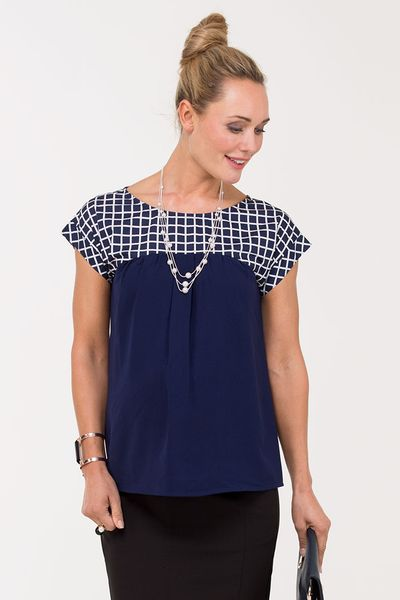 Beverly Checkered Top