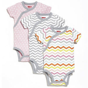 Short Sleeve Bodysuit (Pack of 3) - Pink