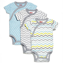 Short Sleeve Bodysuit (Pack of 3) - Blue