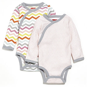 Long Sleeve Bodysuit (Pack of 2) - Pink