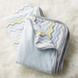 Welcome Home Reversible Blanket - Blue