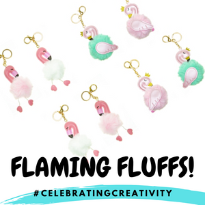 Flaming Fluffs! (Premium Fluffy Keychain)