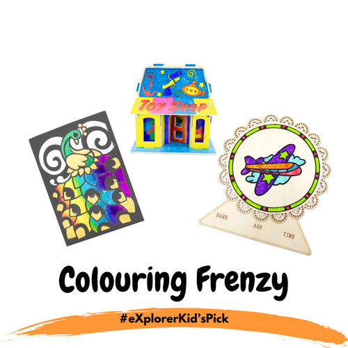 eXplorerKid's Holiday Pick - Colouring Frenzy! (3 Day Activity Bundle)