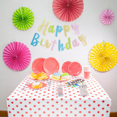 Polka Dot Joy Themed Birthday Party Decoration Set Up (DIY)