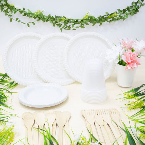 Earthy-Party (Eco-Friendly/Biodegradable Party Supplies Set)