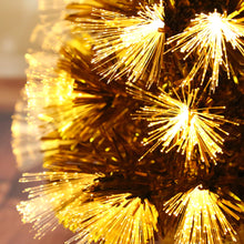 45CM MINI GOLD CHRISTMAS TREE (6 LIGHTING MODES)