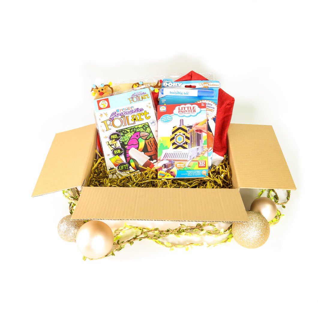 CHRISTMAS THEMED GIFT BOX - SANTA'S PLAYHOUSE!