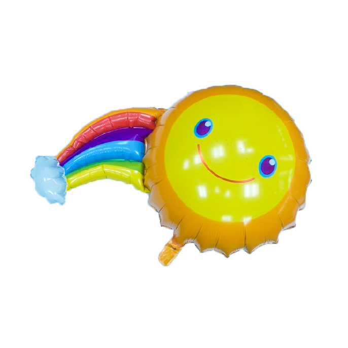 Smiley Rainbow Foil Balloon (With Helium)