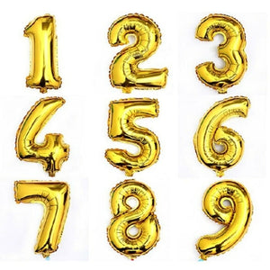 "40"" Gold Number Foil Balloon (With Helium)"