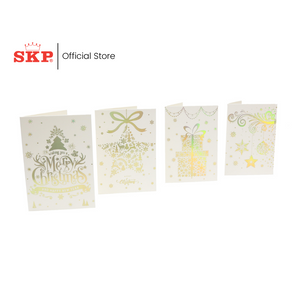 FESTIVE CHRISTMAS CARDS PACK  (2 PCS/PKT)