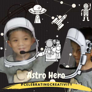 [BACK-ORDER] ASTRO HERO D-I-Y FACE SHIELD (ASTRONAUT INDIVIDUAL SET)