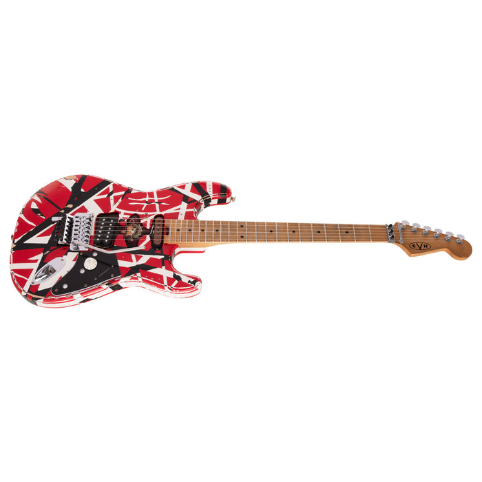 EVH Striped Series Frankie Red/White/Black Relic Electric Guitar (Pre-Order)