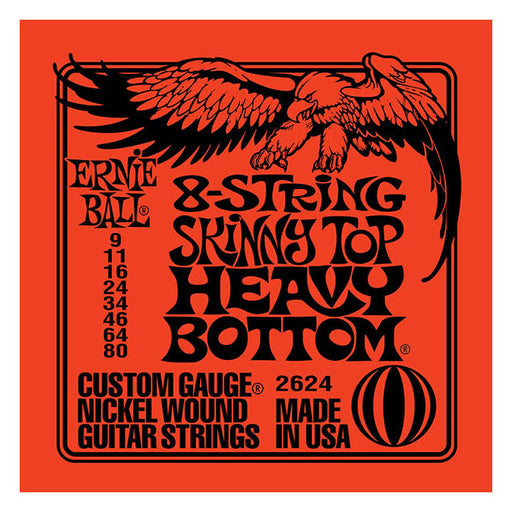 Ernie Ball 2624 Skinny Top Heavy Bottom 8-String Electric Guitar Strings 9-80