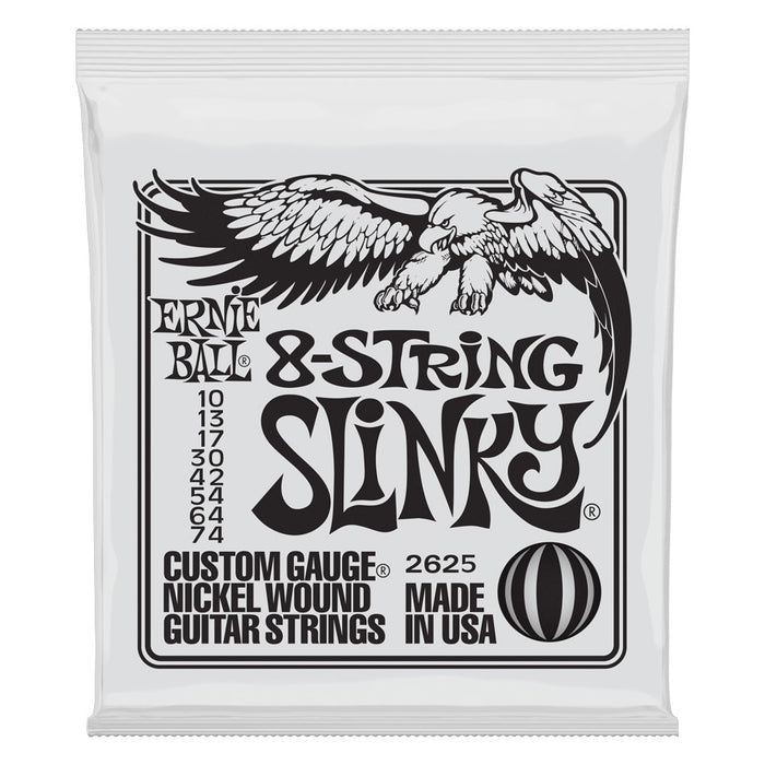 Ernie Ball 2625 8-String Slinky Nickel Electric Guitar Strings Gauge 10-74