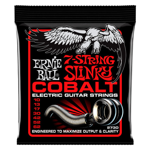 Ernie Ball 2730 Cobalt 7-String Skinny Top Heavy Bottom Strings Gauge 10-62