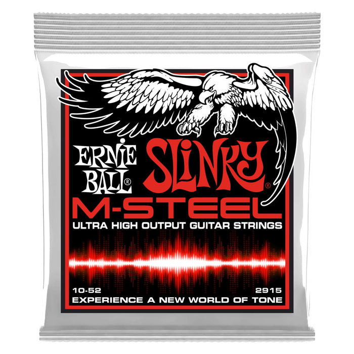 Ernie Ball 2915 M-STEEL Skinny Top Regular Bottom Strings Gauge 10-52