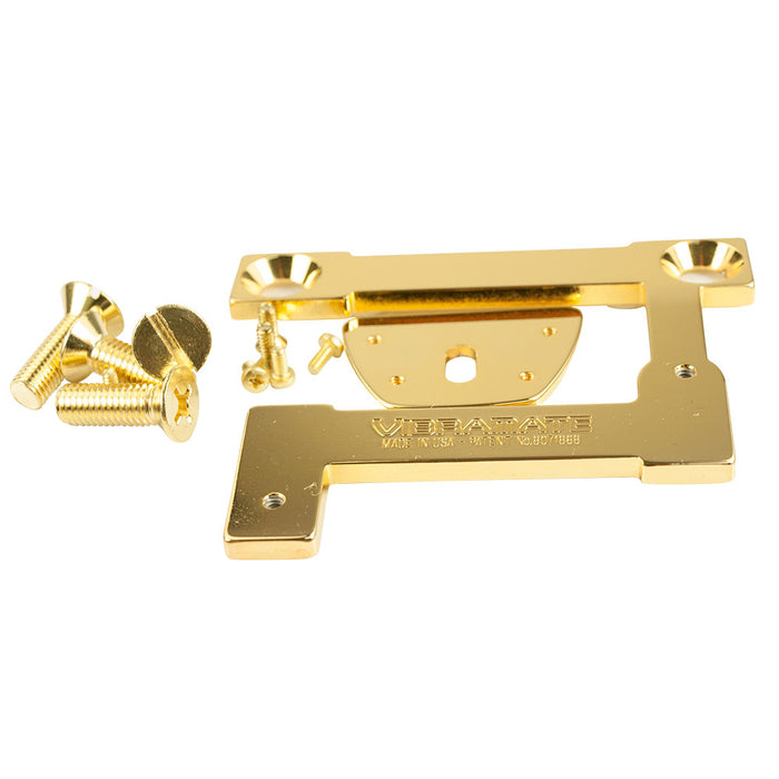 "Vibramate V7-335 Model E-Series 8.0"" Archtop Quick Mount Kit Gold"