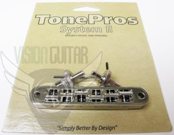 TonePros Nashville Un-Notched Tune-O-Matic Bridge TP6-N Nickel