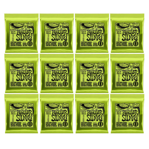 12 Sets! Ernie Ball 2221 Regular Slinky Nickel Wound Guitar Strings (10-46)