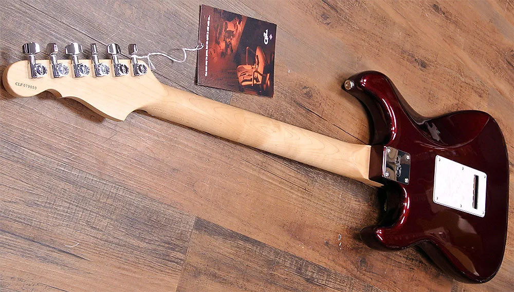 NOS G&L Legacy HH Electric Guitar Ruby Red Metallic