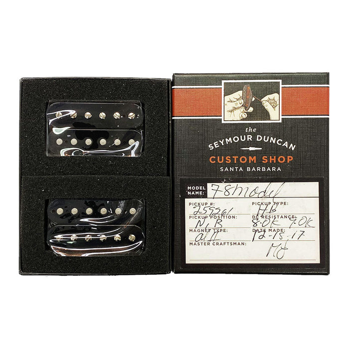 Seymour Duncan Custom Shop EVH '78 Model Humbucker Pickup Set Black