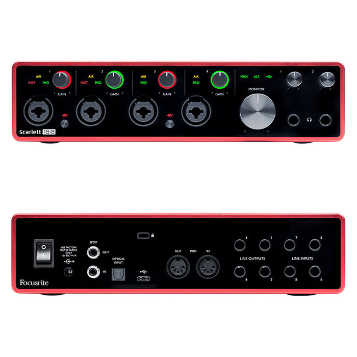 Focusrite Scarlett 18i8 3rd Generation USB Audio Interface