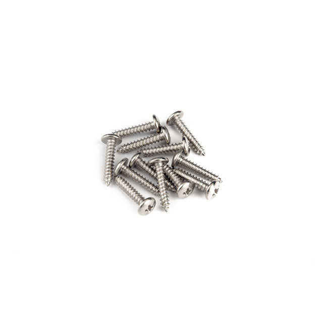 "Fender Control Plate Mounting Screws Truss Head Sheet Metal (3 X 1/2"")"