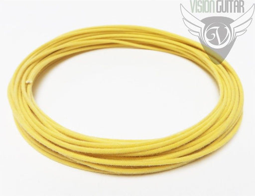 Yellow Cloth Push Back Vintage Correct Single Conductor Wire - Sold By The Foot
